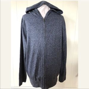 Banana Republic Gray Blue Full ZIP Cardigan Hoodie